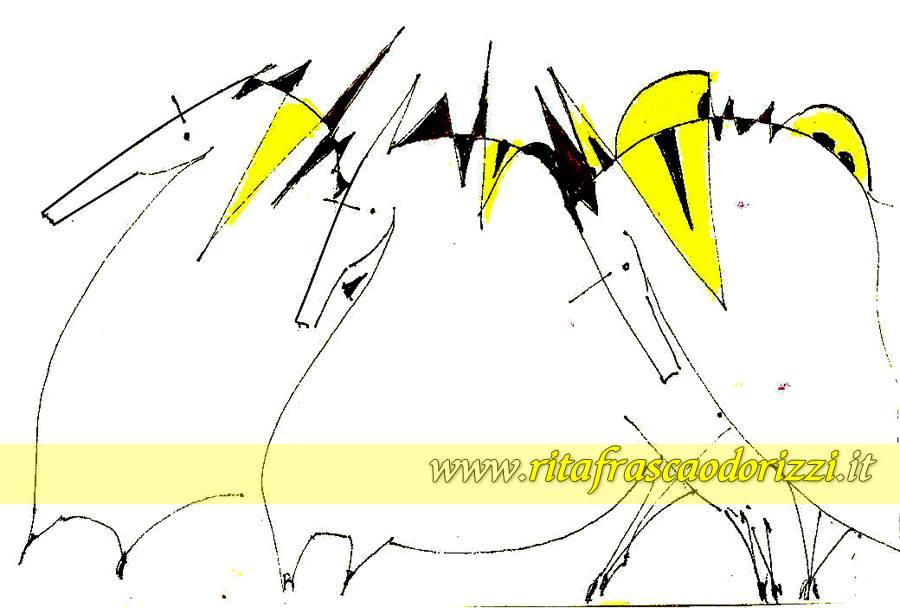 cavalli_galoppo_illustrazione_pittrice_rita_frasca_odorizzi