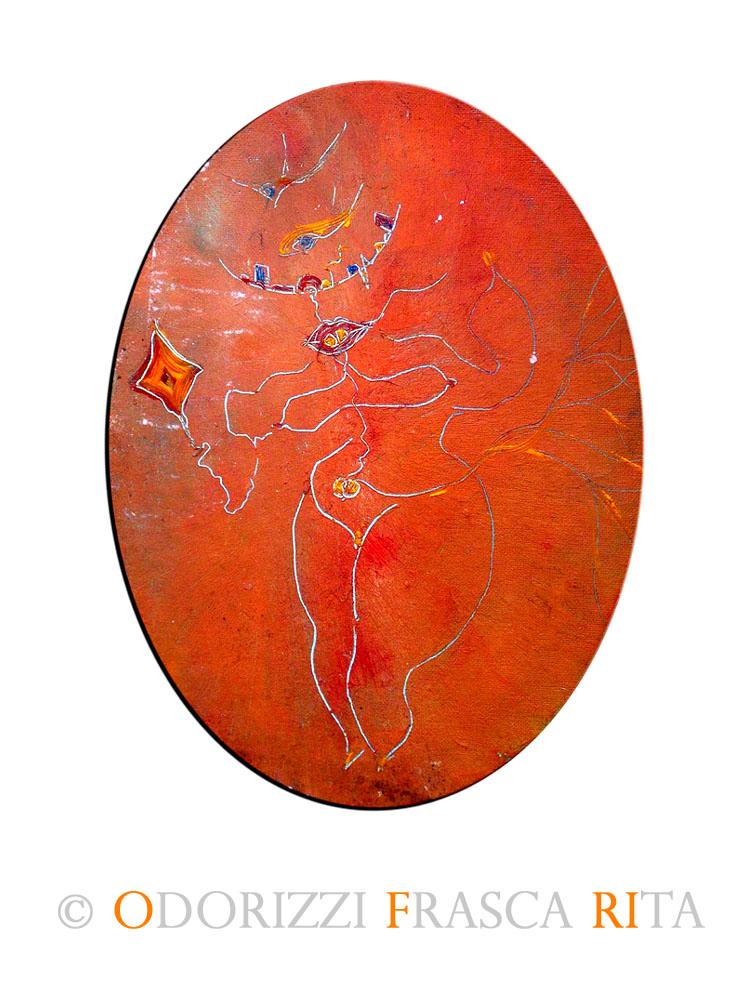 dipinto_a_olio_ofri_serie_alfabeto_dell_intero_5_spirito_bambino_2000