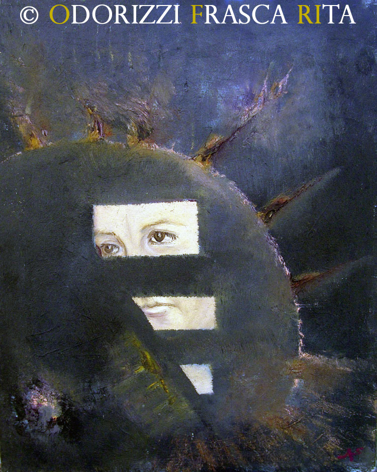 dipinto_a_olio_ofri_serie_sostanza_di_universo_titolo_sole_nero_1990
