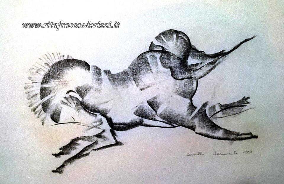 disegno_carboncino_cavallo_che_dorme