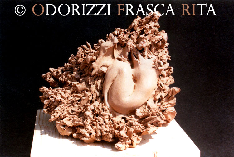 scultura_contemporanea_ofri_serie_radici_titolo_risveglio_1990