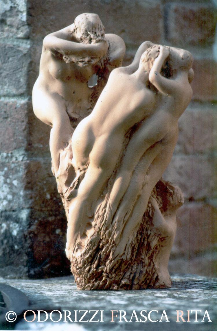 scultura_contemporanea_ofri_serie_radici_titolo_sorellanza_1990