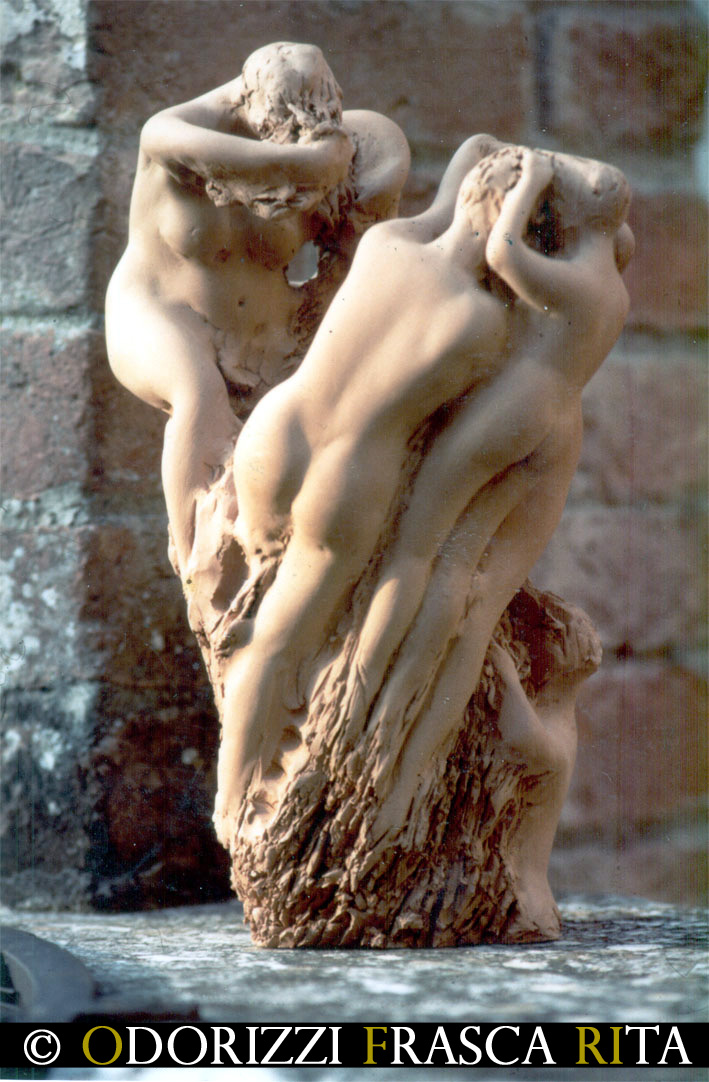 scultura_contemporanea_serie_radici_sorellanza_1990