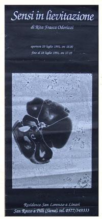 locandina mostra sensi in levitazione 1991 rita frasca odorizzi